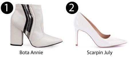 bota branca e scarpin branco
