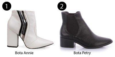 bota branca bota preta