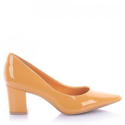 Scarpin Francis 4062-05572 Verniz Amarelo Marca Di Valentini