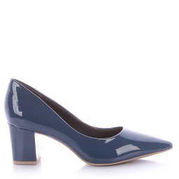Scarpin Francis 4062-05572 Verniz Azul Marca Di Valentini