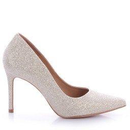 Scarpin July 931-80139 Glitter Nude Marca Paula Brazil