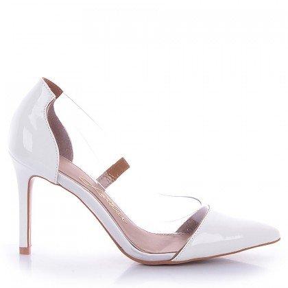 Scarpin Jess 1099-80990 Verniz Branco Marca L'atelier