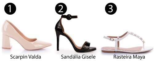 scarpin sandalia rasteira