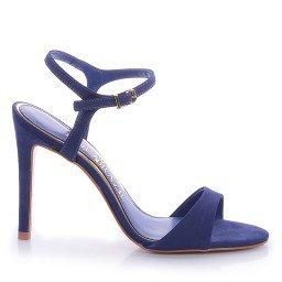 Sandália Lola 872-13214 Nobuck Azul Marca Paula Brazil