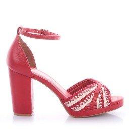 Sandália Alícia Di Valentini 4118-05843 Napa Vermelho