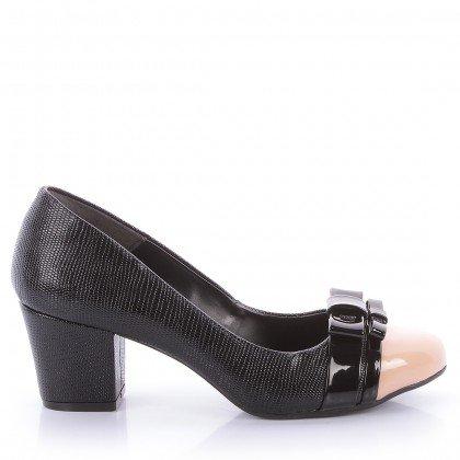 Sapato Verena 513-04709 Verniz Croco Preto Marca Di Valentini