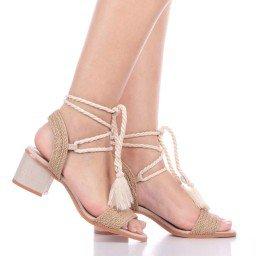Sandália Salto Baixo Di Valentini