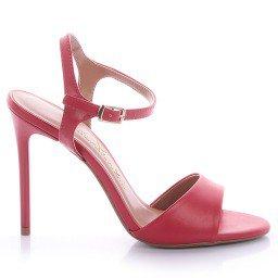 Sandália Vermelha Salto Fino Paula Brazil