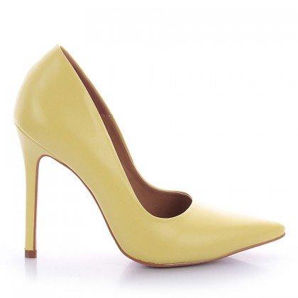 Scarpin Amarelo Salto Alto Paula Brazil