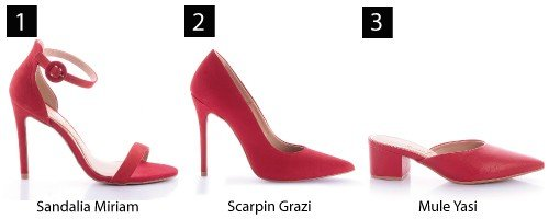 sapatos vermelhos