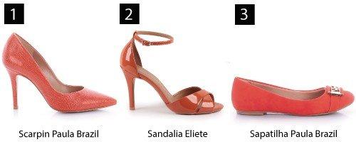 sapatos laranjas
