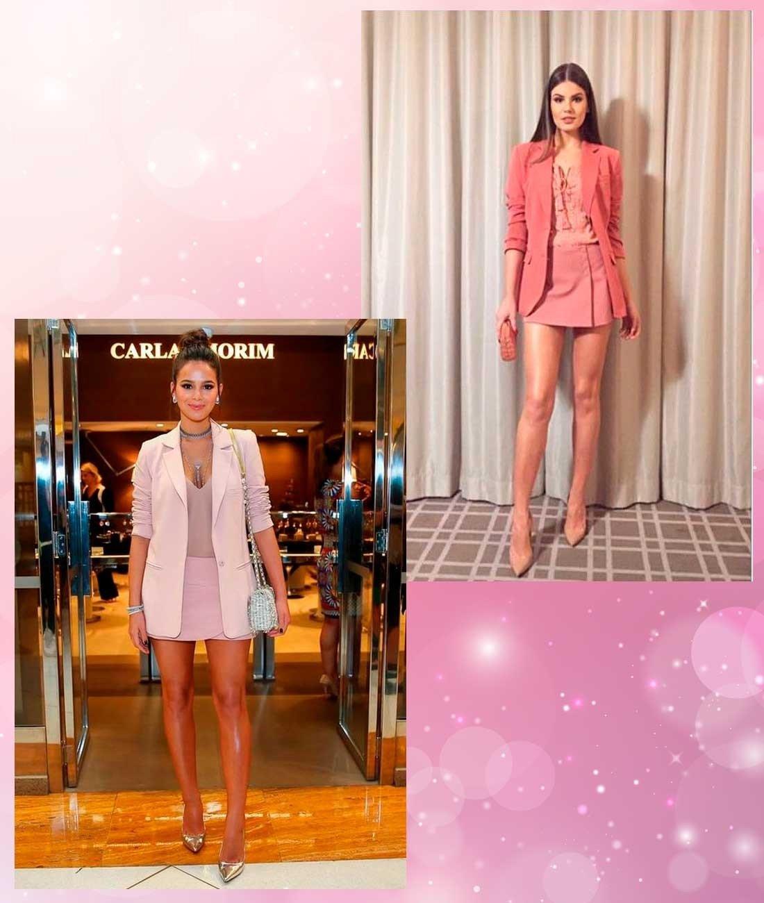 look com blazer rosa