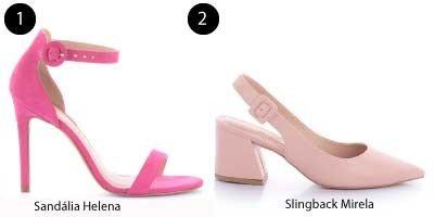 sandalia rosa e slingback mirela