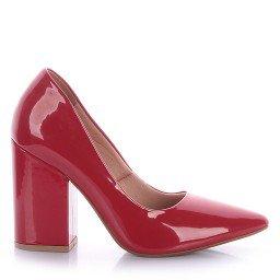 Scarpin Salto Grosso Vermelho Camminare