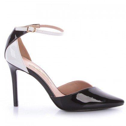 Sapato Salto Fino Preto e Branco L'atelier