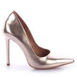 Scarpin Metalizado Dourado Paula Brazil