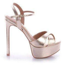 Sandália Metalizada Dourada Paula Brazil
