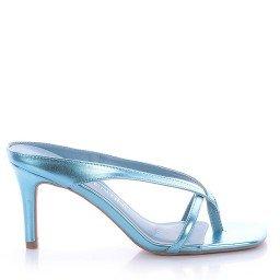 Tamanco Metalizado Azul Di Valentini