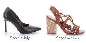 scarpin e sandalia