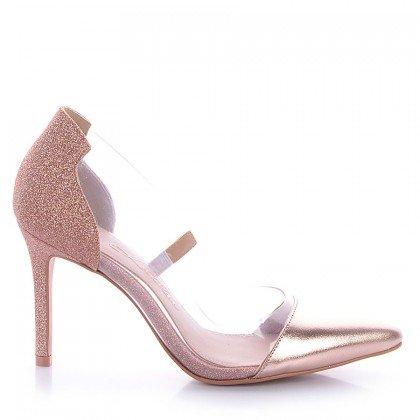Scarpin Glitter Rosa Vinil L'atelier