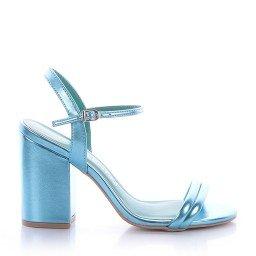 Sandália Metalizada Azul Di Valentini
