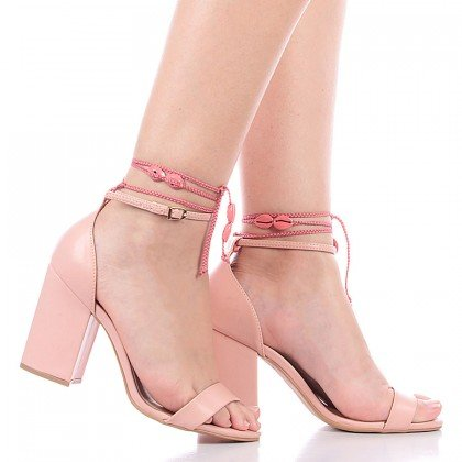 Sandália Amarração Rosa Di Valentini