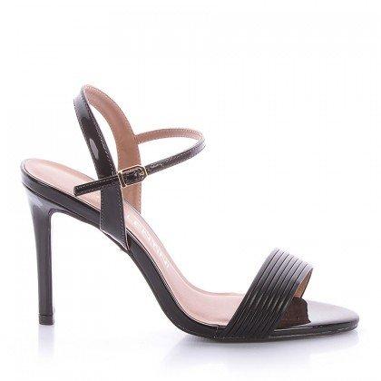 Sandália Salto Fino Preta Di Valentini