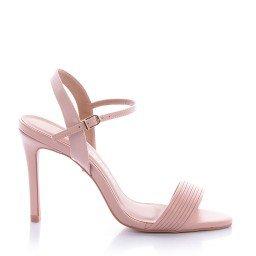 Sandália Salto Fino Rosa Di Valentini