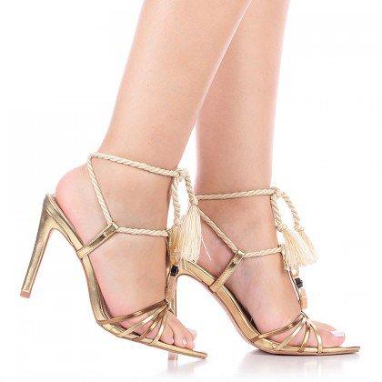 Sandália Amarração Dourada L'atelier