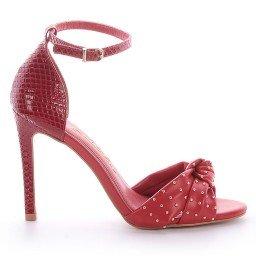 Sandália Vermelha Salto Fino L'atelier