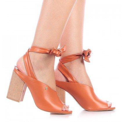 Sandália Amarração Laranja Di Valentini