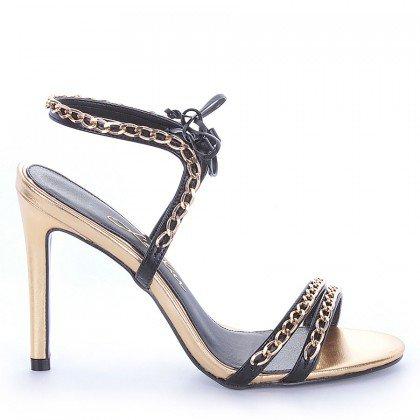 Sandália Salto Fino Dourada L'atelier
