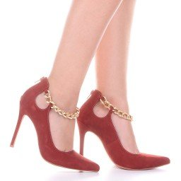 Sapato scarpin Marrom com corrente L'atelier