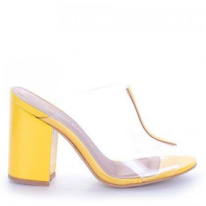 Tamanco Amarelo com Transparencia Di Valentini
