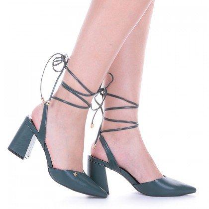 Sapato Amarração Roxo Salto Baixo Di Valentini
