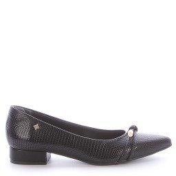 Sapato Preto Salto Baixo Di Valentini