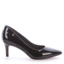 Sapato Bico Salto Fino Preto Di Valentini