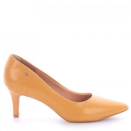 Sapato Bico Salto Fino Amarelo Divalentini