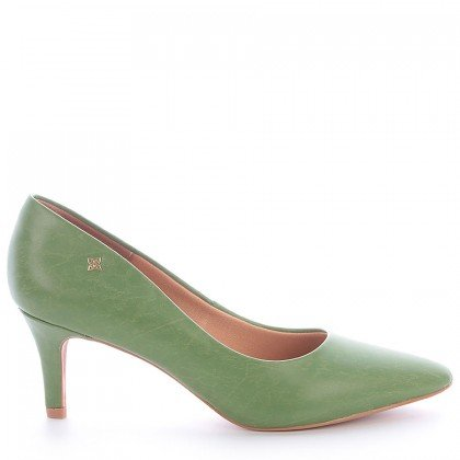 Sapato Bico Salto Fino Verde Divalentini