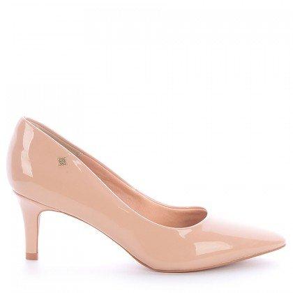 Sapato Bico Salto Fino Nude Di valentini