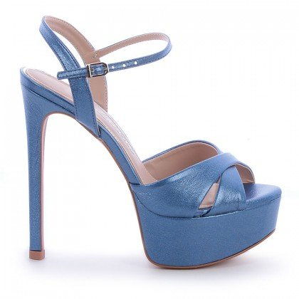 Sandália Kati L'atelier Napa Metalizado Azul