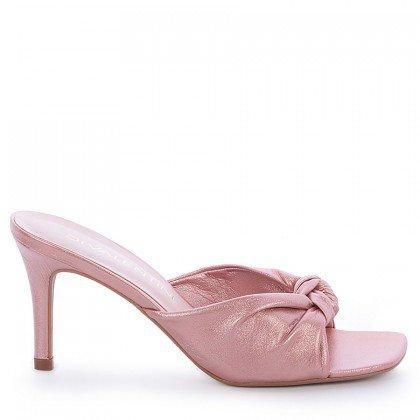 Tamanco Thuira Di Valentini Napa Metalizado Rosa