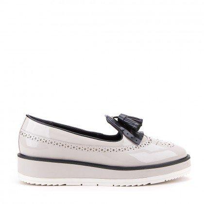 Sapato Di Valentini Verniz Cinza (Meu 35)