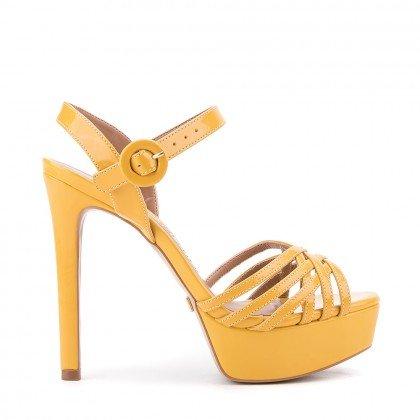 Sandália Di Valentini 0673 Verniz Amarelo (Meu 35)