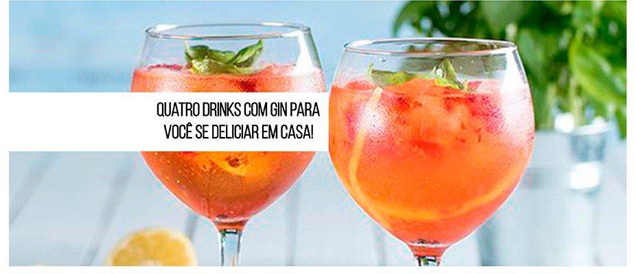 House Party! Quatro drinks com gin para você se deliciar em casa!