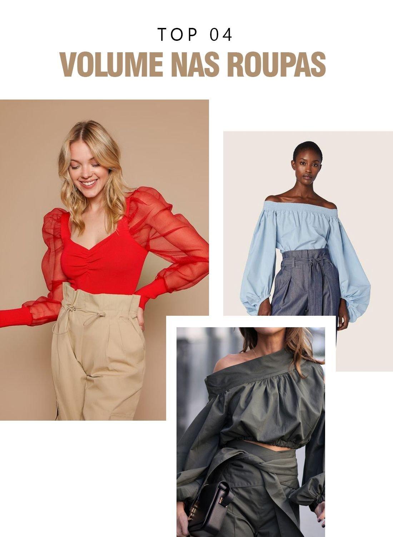 roupas volumosas